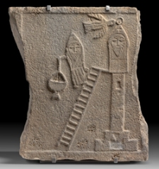 9/63 Relief mit Symeon Stylite