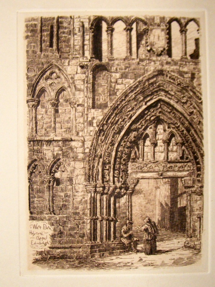 catty-dobson-pub-c1885-etching-west-door-holyrood-chapel-edinburgh-2-82342-p